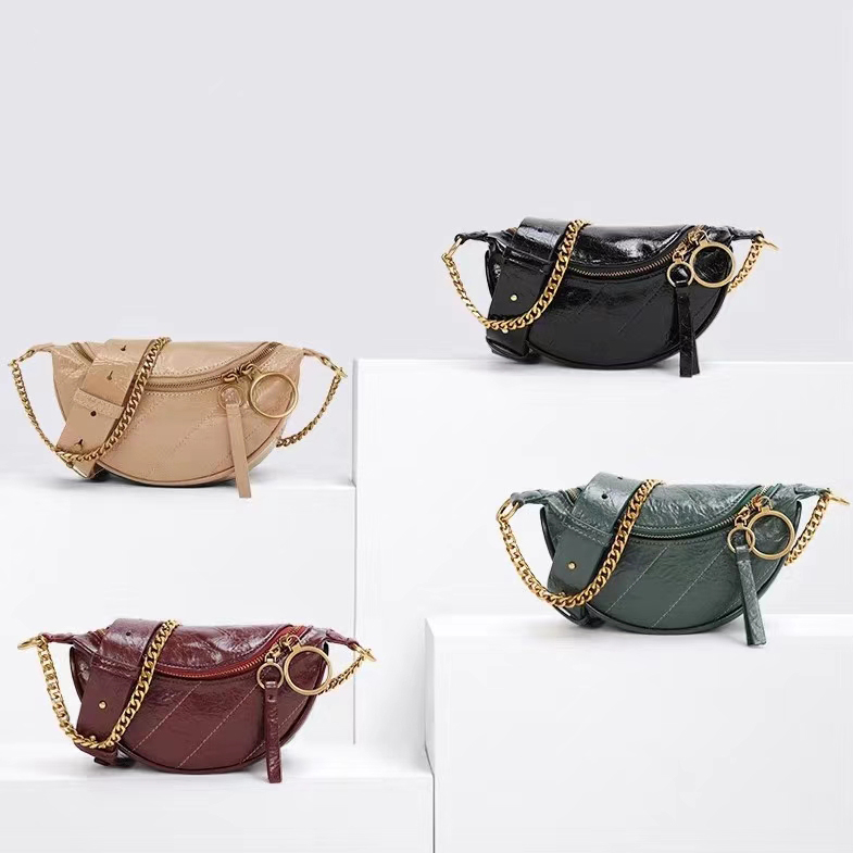 Distressed Leather Waist Bag Crossbody Purse LH2932_4 Colors