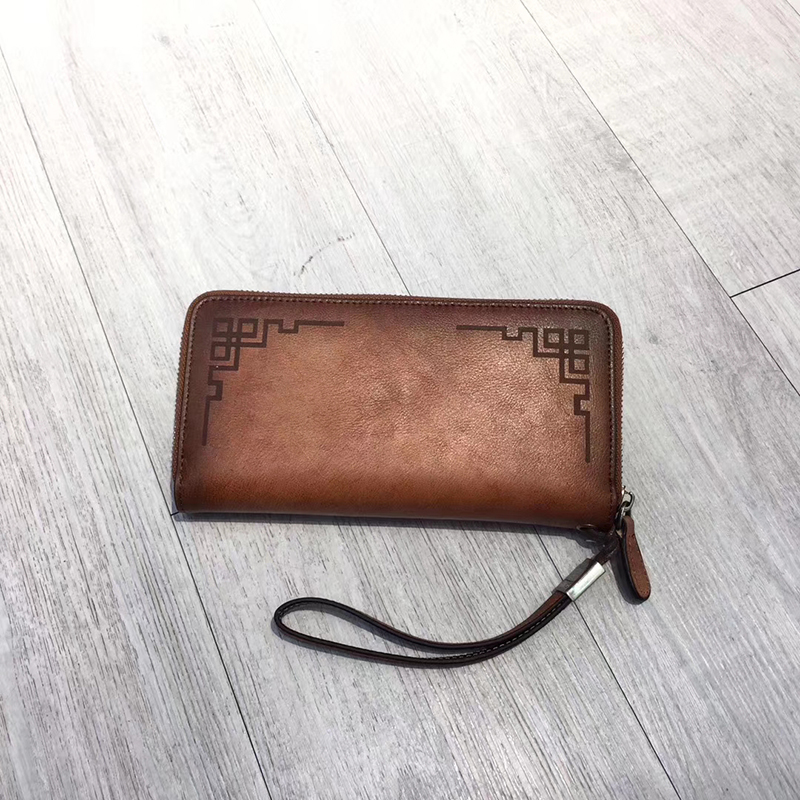Distressed Leather Clip Real Leather Wallet LH2947_3 Colors