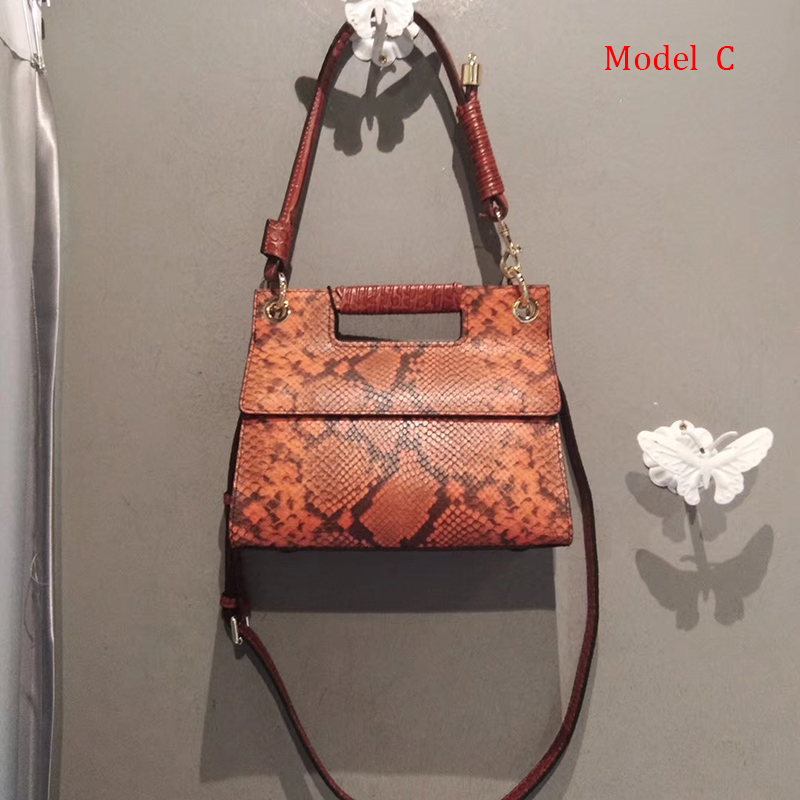 Python Effect Leather Shoulder Bag LH2958S_8 Colors