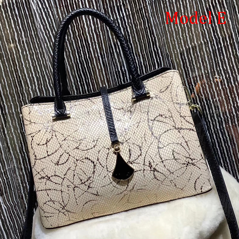 Python Effect Leather Tote Satchel Bag LH2959_7 Colors