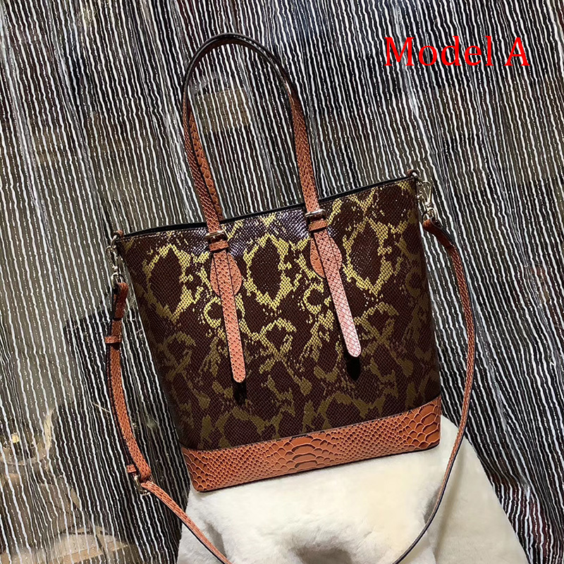 Python Effect Leather Shoulder Bag for Women LH2961_7 Colors
