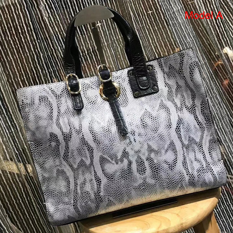 Python Effect Leather Tote Bag Womens Handbag LH2968B_5 Colors