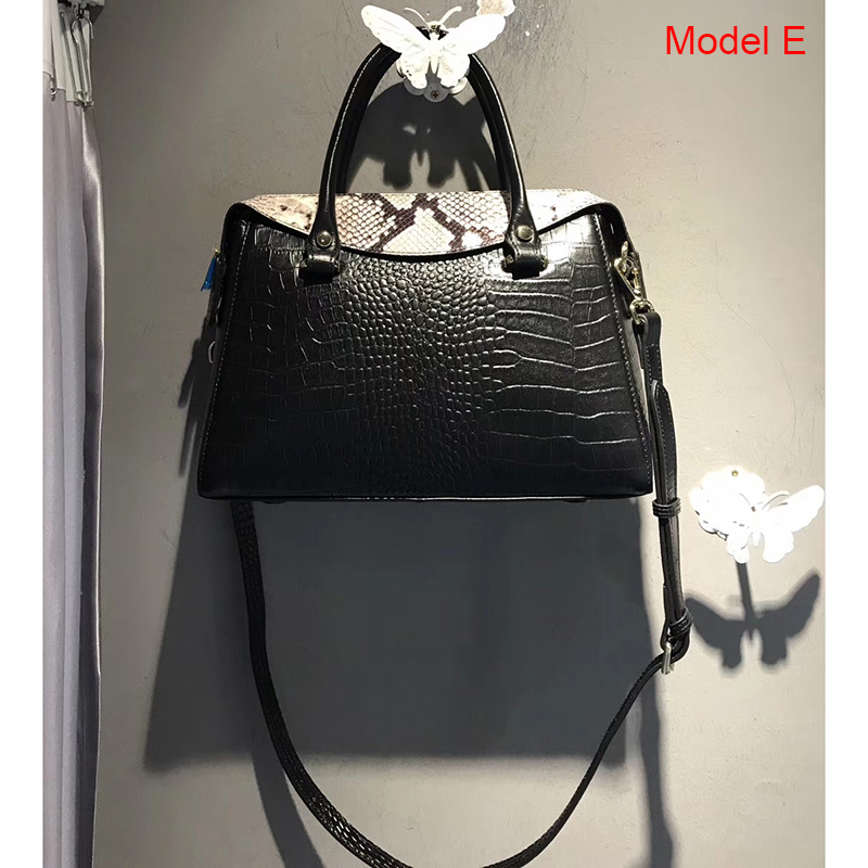 Crocodile Pattern Real Leather Tote LH3969_6 Colors