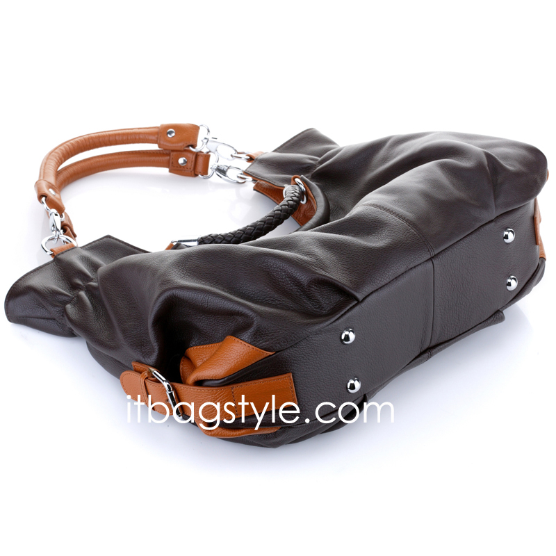 Honor Chocolate Leather Tote LH031