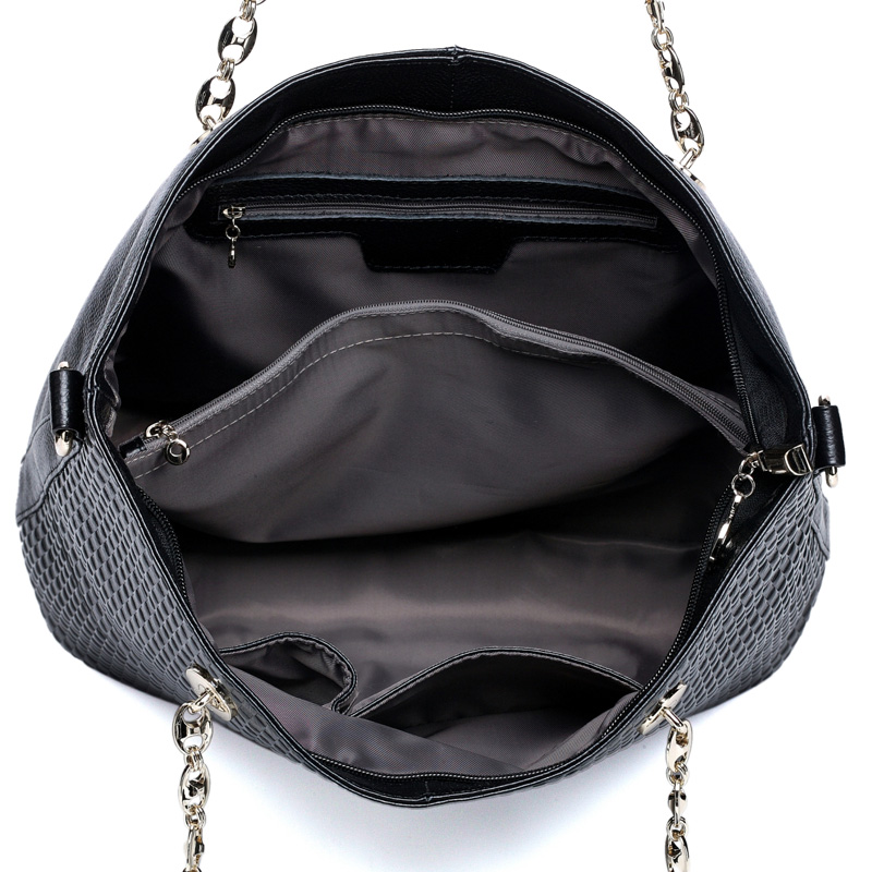 Otto Black Leather Shoulder Bag LH609