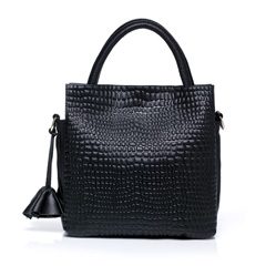 Wallis Black Leather Tote LH652