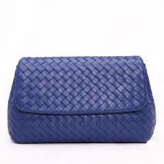 Seal Blue Leather Bag LH842