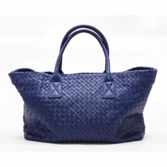 Brien Blue Leather Tote LH848