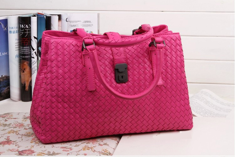 Bice Rose Red Leather Tote LH850