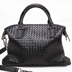Stelly Black Leather Tote LH858
