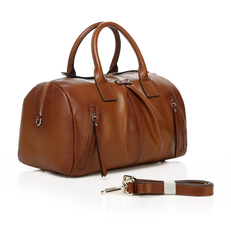 Delilah Brown Leather Tote LH892