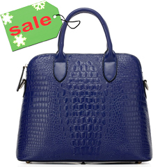 Julia Blue Leather Tote LH9122
