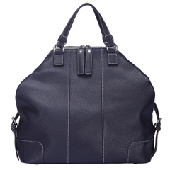 Zoey Dark Blue Leather Tote LH1122M