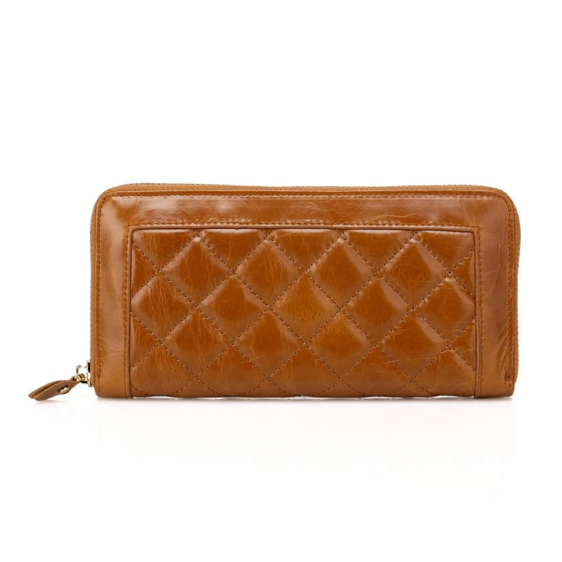 Zipper Around Quilted Leather Wallet LH1090_5 Colors