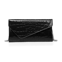 Sarina Black Leather Purse LH1268