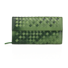 Young Dark Green Leather Wallet LH847