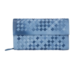 Young Blue Leather Wallet LH847
