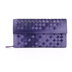 Young Purple Leather Wallet LH847