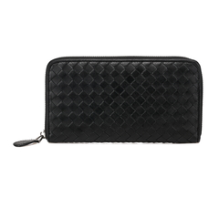 Ray Black Woven Sheepskin Wallet LH837