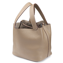 Samson Latte Leather Barrel Bag LH1295S