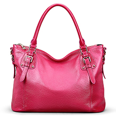 Jones Rose Red Leather Tote LH9908