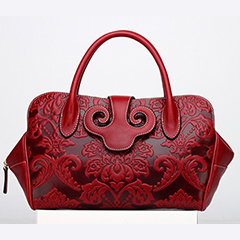 Nicolas Red Leather Tote LH1321
