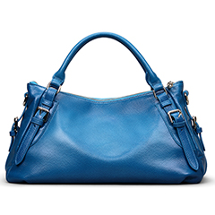 Blue Leather Tote Bag LH1435