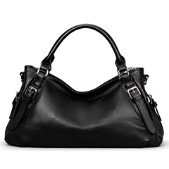 Black Leather Tote Bag LH1435