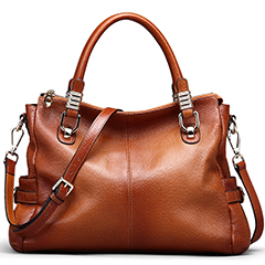 Real Leather Tote Cross Body Bag LH1461