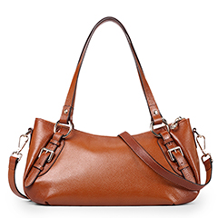 Brown Leather Tote Bag LH1436_4 Colors