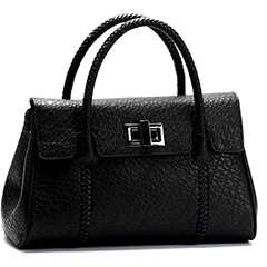 Black Real Leather Tote LH1481