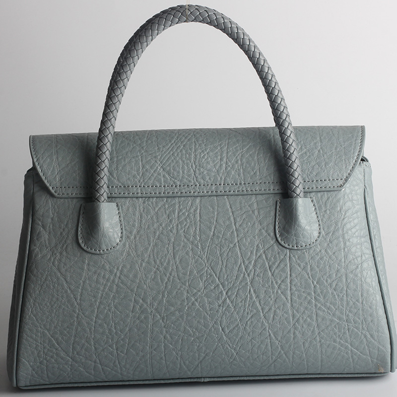 Blue Real Leather Tote LH1481