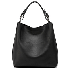 Black Flexible Leather Hobo LH1581