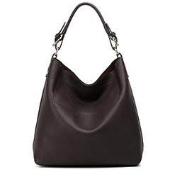 Chocolate Flexible Leather Hobo LH1581