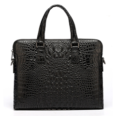 Black Crocodile Pattern Formal Briefcase LH1476