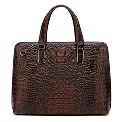 Coffee Crocodile Pattern Laptop Bag LH1475