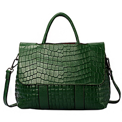 Green Crocodile Pattern leather Tote LH1650