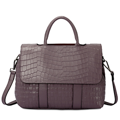 Purple Crocodile Pattern leather Tote LH1650