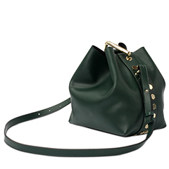 Green Leather Cross Body Bag LH1653
