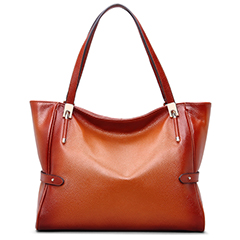 Brown Real Leather Tote LH1688