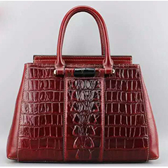 Crocodile Pattern Leather Tote LH1756_5 Colors