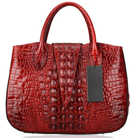 Crocodile Pattern Leather Tote LH1748L_4 Colors