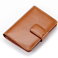 Passport Holder Distress Leather Wallet LH1763_4 Colors