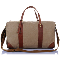 Canvas & Leather Weekend Bag LH1773_4 Colors