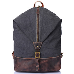 Canvas & Leather Backpack LH1774_3 Colors