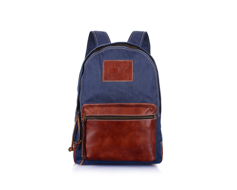 Canvas & Leather Backpack LH1777A_3 Colors