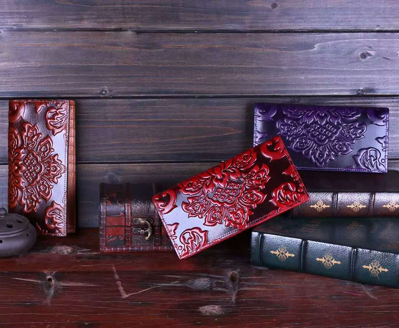 Floral Pattern Leather Wallet LH1009B