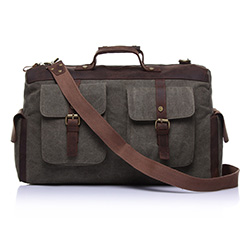 Cross Cotton Water Canvas Over Night Bag Duffel Weekend Bag LH1824_3 Colors