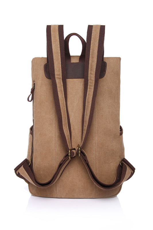 Large Pockets Cotton Water Canvas Backpack LH1828