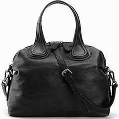 Black Capacity Leather Tote Top Handle Bag LH1848